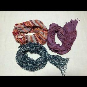 Ethnic India and loft  3 scarf lot bundle